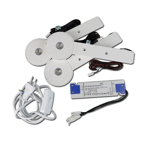 LED Aufbauleuchte im Komplett Set für Regale oder Küchenhängeschränke