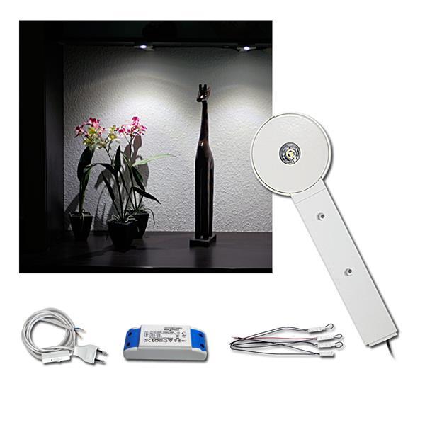 4er Set LED Unterbauleuchte weiß, 3W neutralweiß