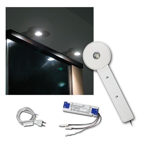 3er Set LED Schrankaufbauleuchte 3W neutral-weiß