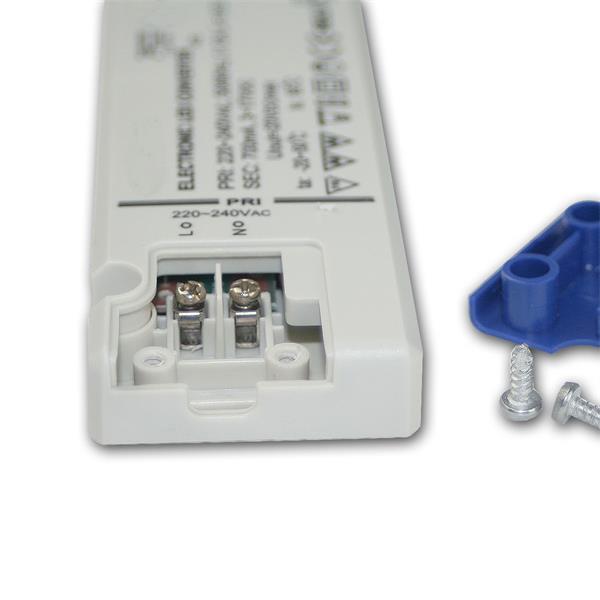 LED-Möbelaufbauleuchte mit Anschluss über Mini-Steckverbinder