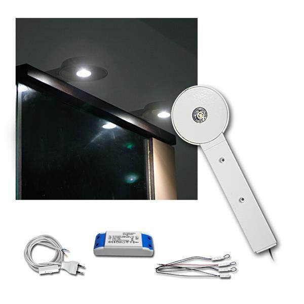 4er Set LED Schrankaufbauleuchte 3W neutral-weiß