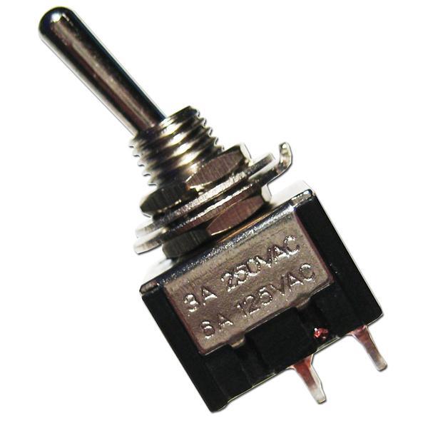 Miniatur-Kipp-Schalter MTS-201 schwarz 2-polig
