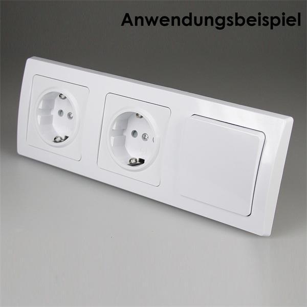 Lichtschalter + Steckdose - elegant,leicht zu installieren und erweiterbar