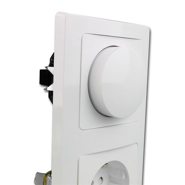 Phasenanschnittsdimmer und Steckdose - leicht zu installieren