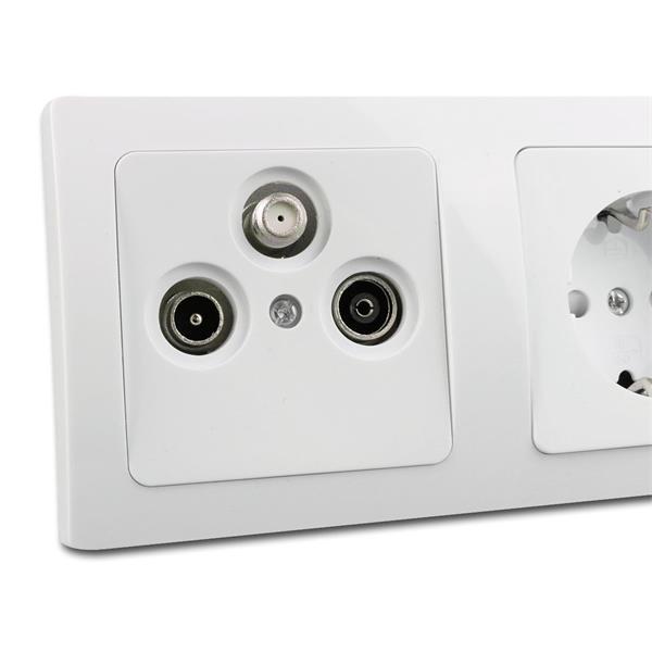 Antennendose + Steckdose leicht zu installieren