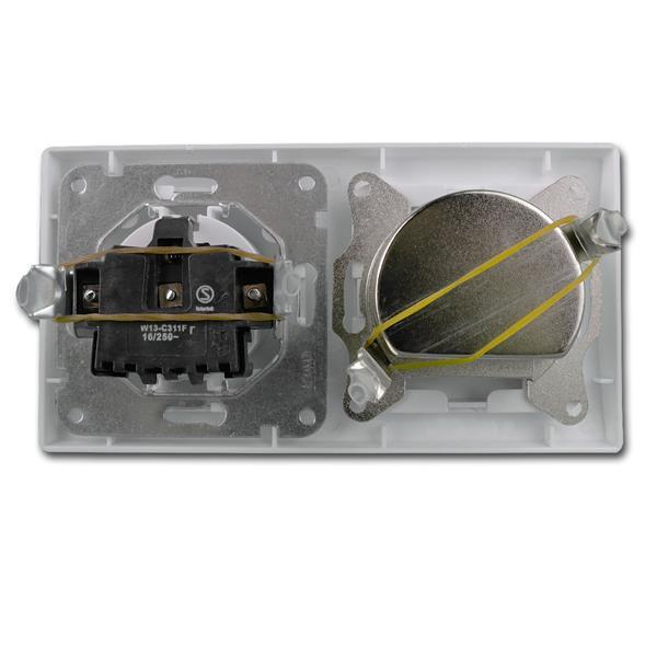 Antennensteckdose für Radio+TV+Sat für Unterputzmontage