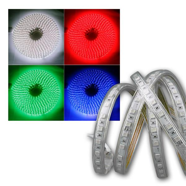 LED-Stripe RGB-Pro 230V, 20 Meter IP44, IR FB