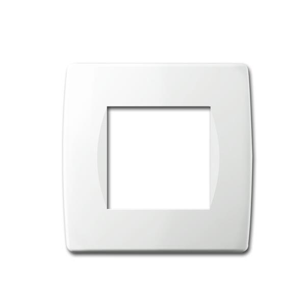 MODUL-PLUS 1-fach UP-Rahmen, Weiß-Glanz, soft