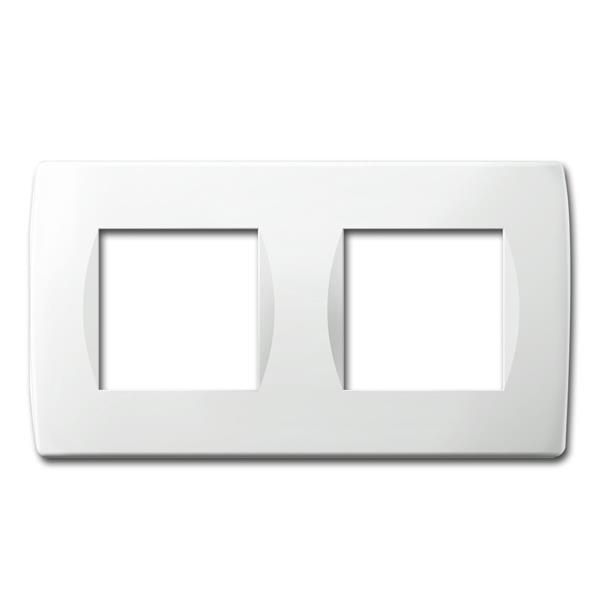 MODUL-PLUS 2-fach UP-Rahmen, Weiß-Glanz, soft