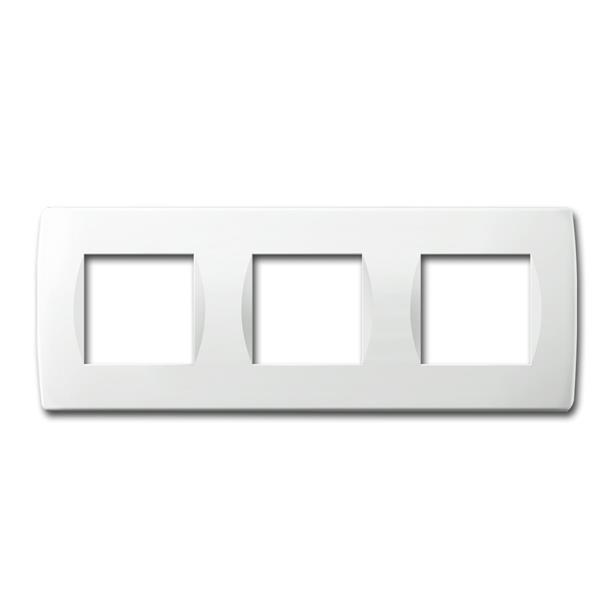 MODUL-PLUS 3-fach UP-Rahmen, Weiß-Glanz, soft