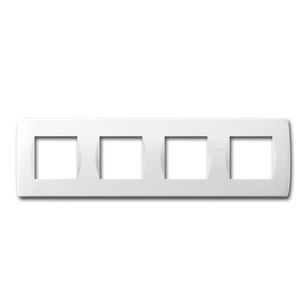 MODUL-PLUS 4-fach UP-Rahmen, Weiß-Glanz, soft
