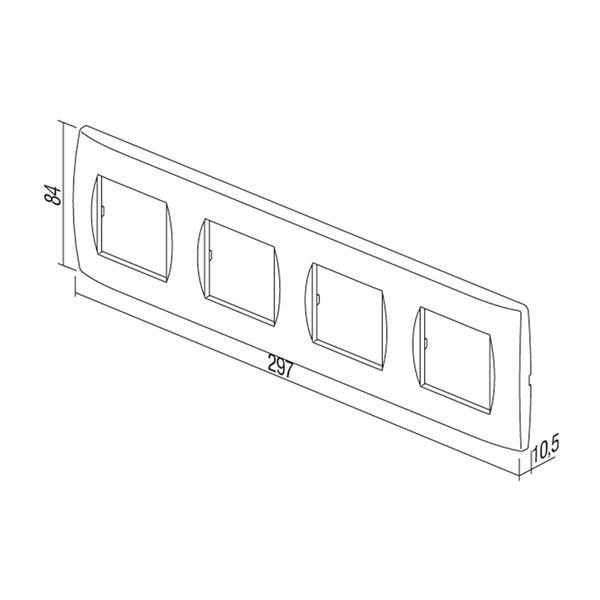 Steckdosenrahmen Bestandteil der Elektro-Installationsserie MODUL-PLUS