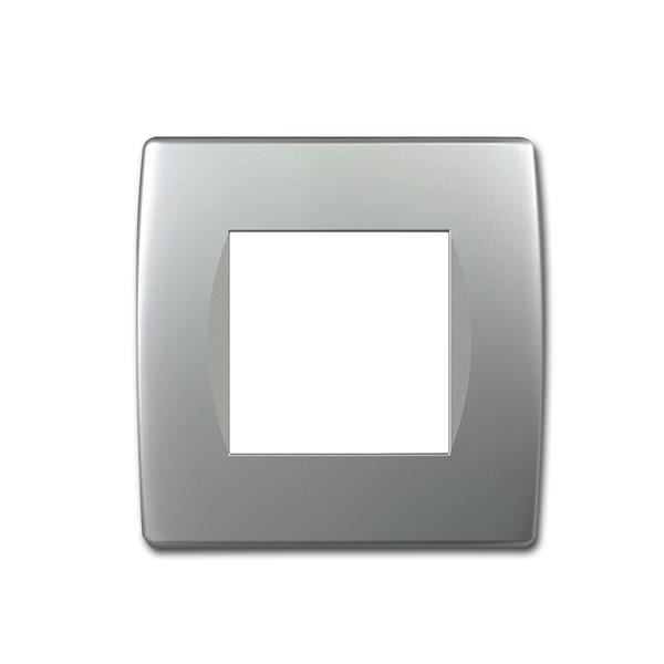 MODUL-PLUS 1-fach UP-Rahmen, Silber-matt, soft