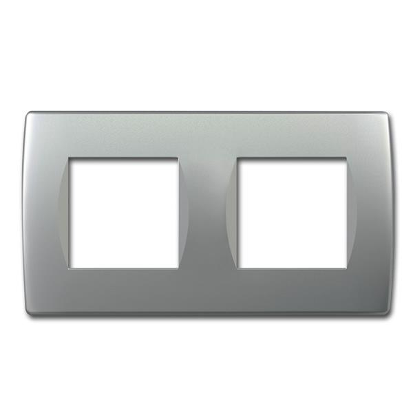 MODUL-PLUS 2-fach UP-Rahmen, Silber-matt, soft