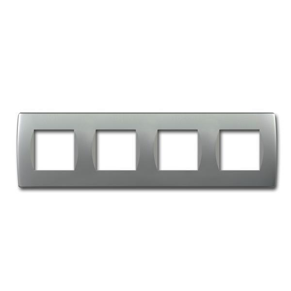 MODUL-PLUS 4-fach UP-Rahmen, Silber-matt, soft