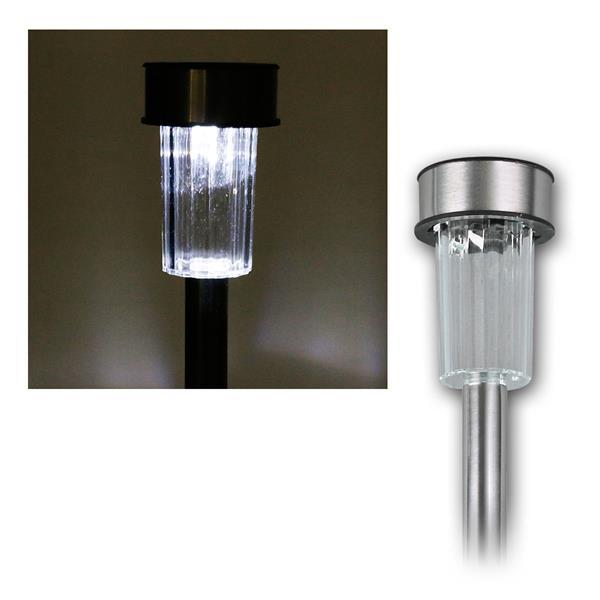 LED Solar-Gartenleuchte, Edelstahl, 10er Pack