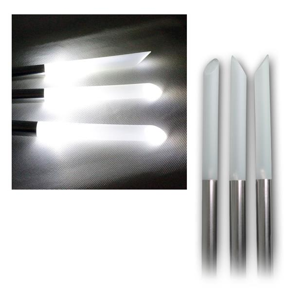 LED Solar-Gartenleuchten70cm, Ø2cm, 3er Pack