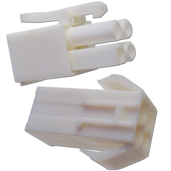 1 Paar Steckverbinder 4-polig mit Crimpkontakten