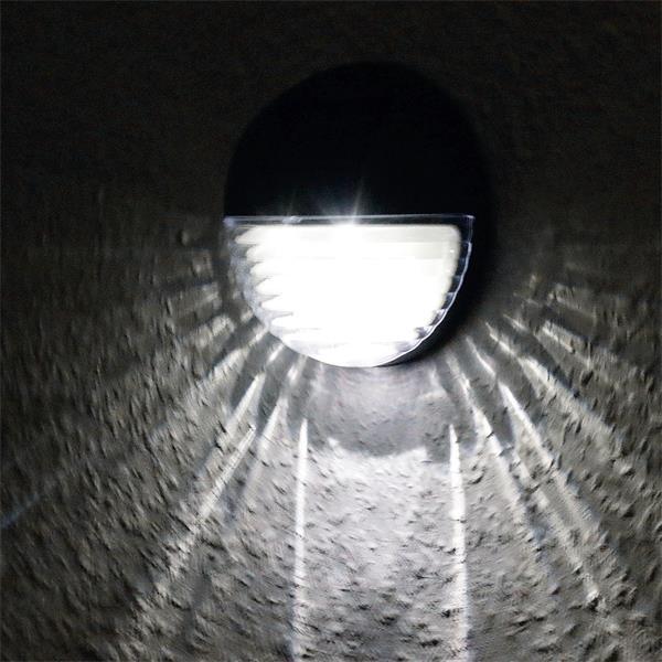 IP44 Solar Wandleuchte LED mit 2 hellen kaltweißen LEDs