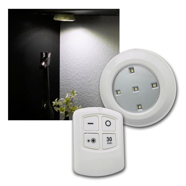 LED Unterbauleuchten mit Fernbedienung, 6er Set