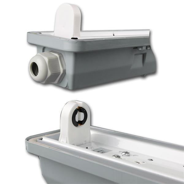 IP65 Feuchtraumlampe mit Direktanschluss und seitlicher Kabeleinführung