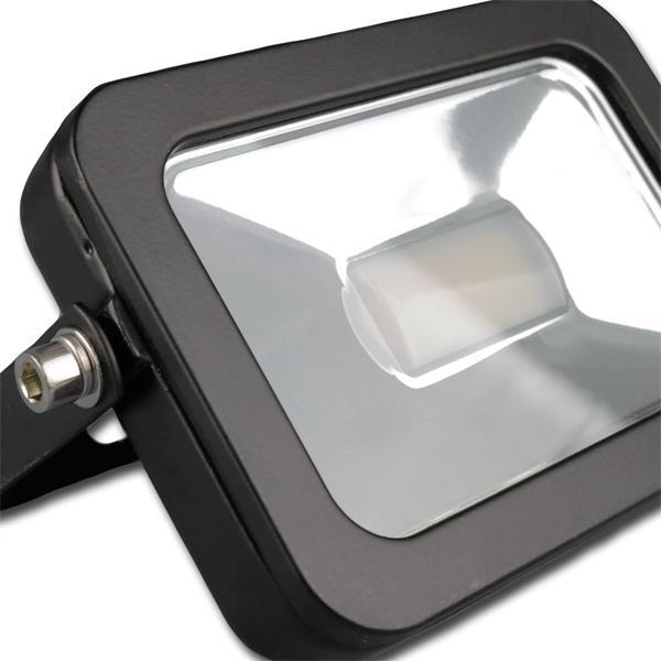 IP44 Flutlichtstrahler in einem stossfestem schwarzen Aluminium-Gehäuse