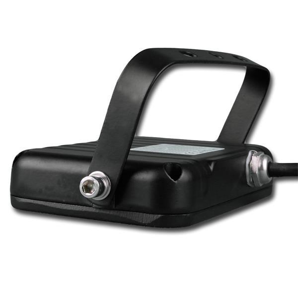 IP44 LED Fluter Slim mit hochwertigem Wandhalter aus Metall