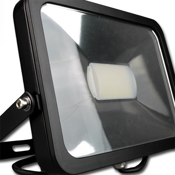 50W Flutlichtstrahler IP44 in einem stossfestem schwarzen Aluminium-Gehäuse