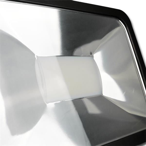 IP44 Flutlichtstrahler 80W in einem stossfestem schwarzen Aluminium-Gehäuse