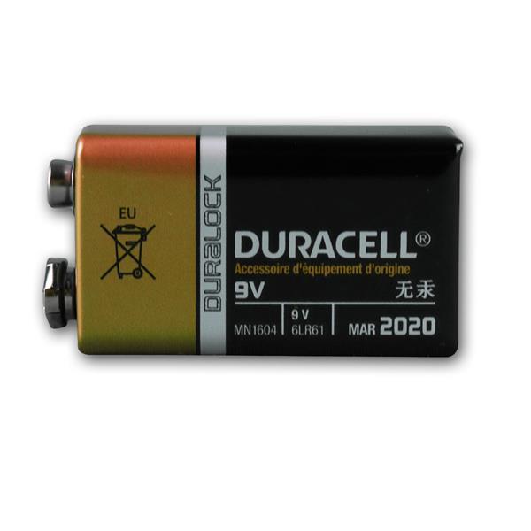 9V-Block Batterie Duracell OEM technisch identisch mit Duracell Plus