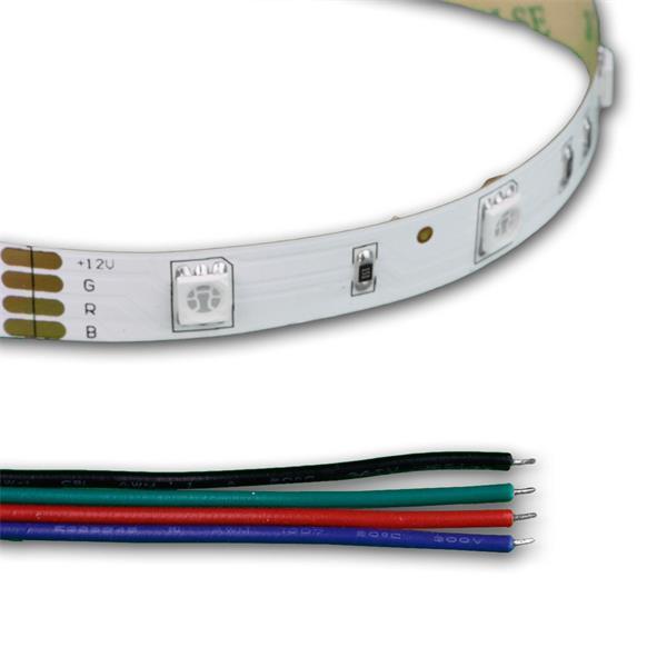 LED SMD flexibler Streifen mit losen Kabelenden für Stromversorgung