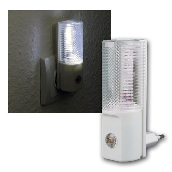 LED-Nachtlicht, 3 LEDs, Tag/Nacht Sensor, 230V