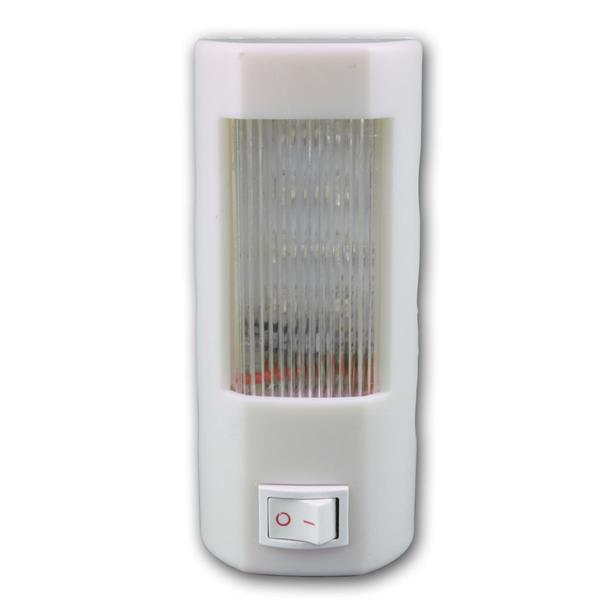 LED Lampe Steckdosenlicht mit 4 kalt-weißen LEDs