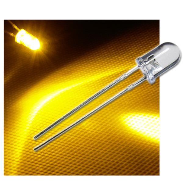 LED 5mm wasserklar gelb Typ WTN-5-10000ge