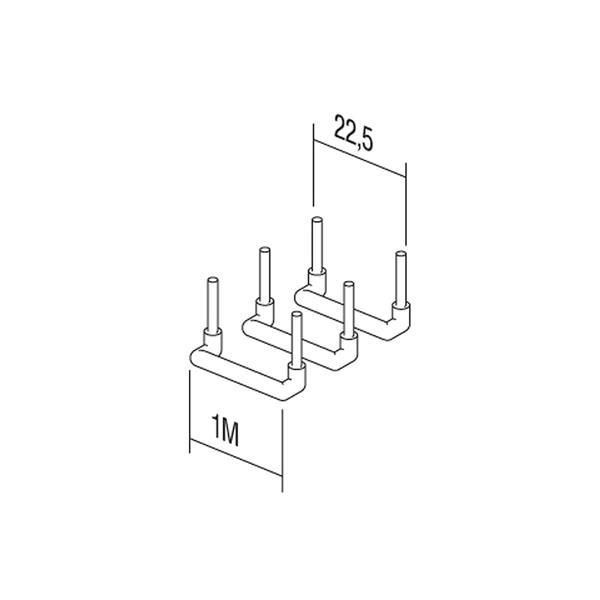 ModulPlus Verdrahtungsmittel mit den Maßen 22,5mm x 15mm (LxB)