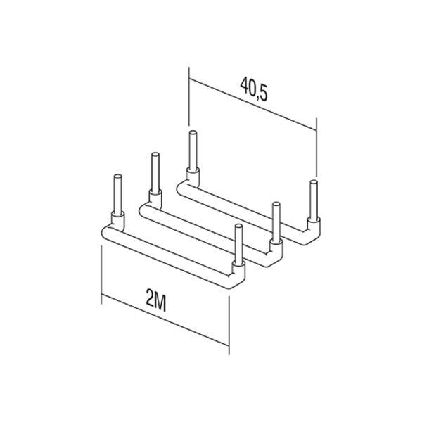 ModulPlus Verdrahtungsmittel mit den Maßen 40,5mm x 15mm (LxB)