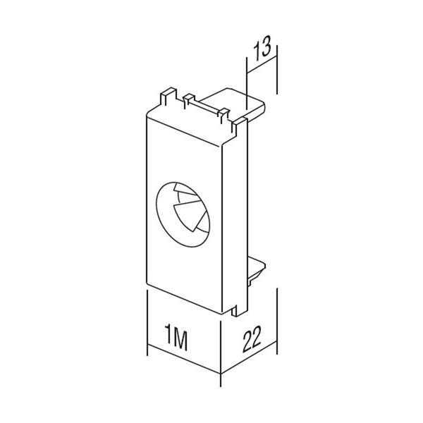 Modul Plus 1M Funktionselement Kabeleinführung Abmessungen