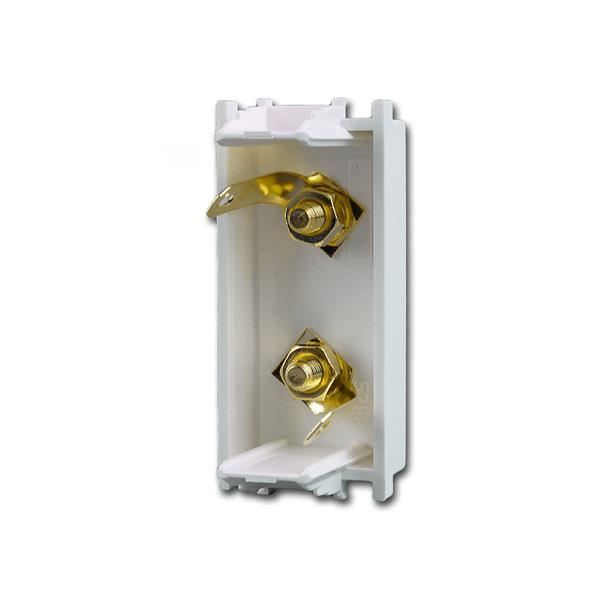 Modul-Plus Lautsprecher-dose 1M von hinten mit gelötetem Kabelanschluss
