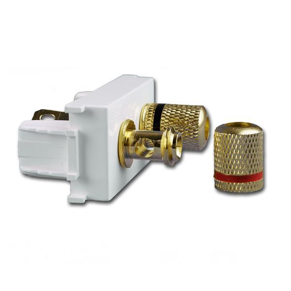 Funktionselement 1M Audio-Anschluss (halbe Dose) für Ø4mm Stecker