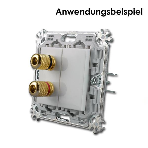Montageträger mit 1M Lautsprecher-Dose und 1M Blende kombiniert