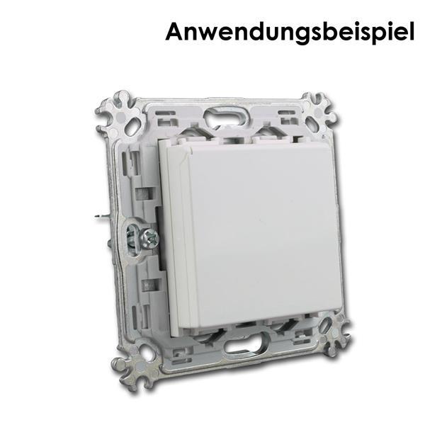 Montageträger mit 2M Funktionselement Schuko-Steckdose Klappdeckel