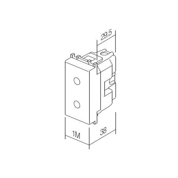 Modul Plus 1M Funktionselement Steckdose Abmessungen Doppelsteckdose möglich