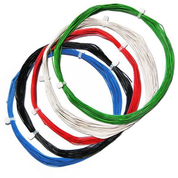 50m Litze flexibel SET 5 Farben 0,5mm/0,04mm²