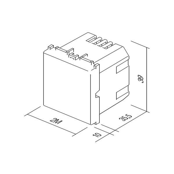 Funktionselement 2M Modul Plus Einbauleuchte Abmessungen