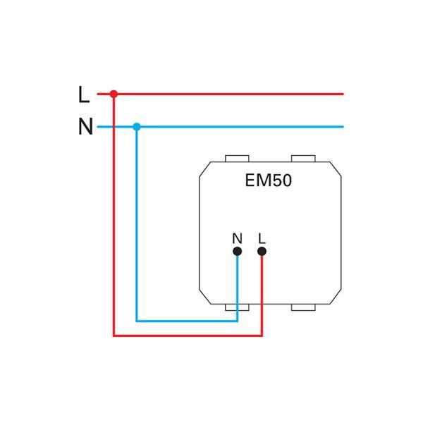 LED Einbauleuchte für Montageträger mit Schutzklasse II