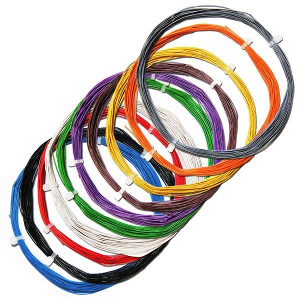100m Litze flexibel - SET 10 Farben 0,5mm/0,04mm²