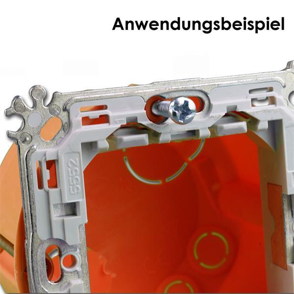 Träger-Schrauben zum Befestigen der Montagerahmen