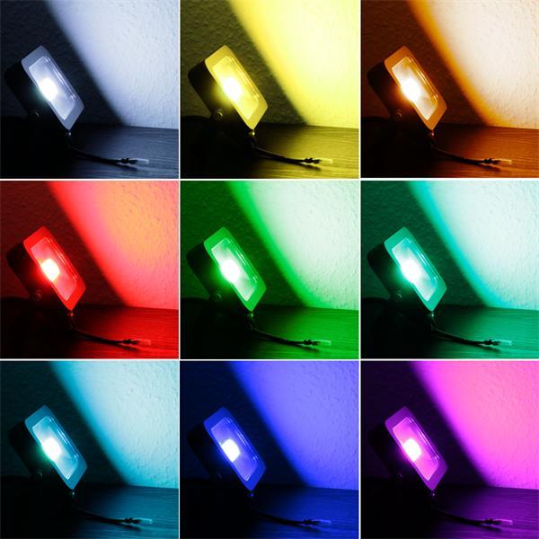 LED Außenstrahler RGB-Slim mit 60 RGB SMD LEDs mit 16 verschiedenen Farben