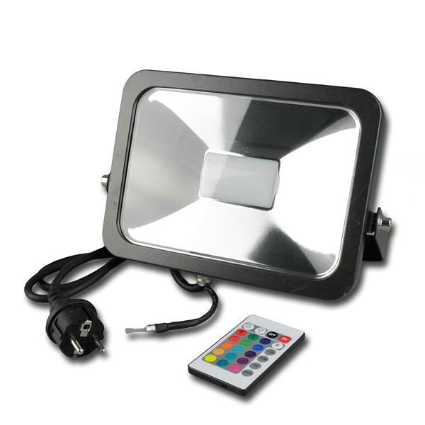 IP44  RGB Außenstrahler in einem stossfestem schwarzen Aluminium-Gehäuse