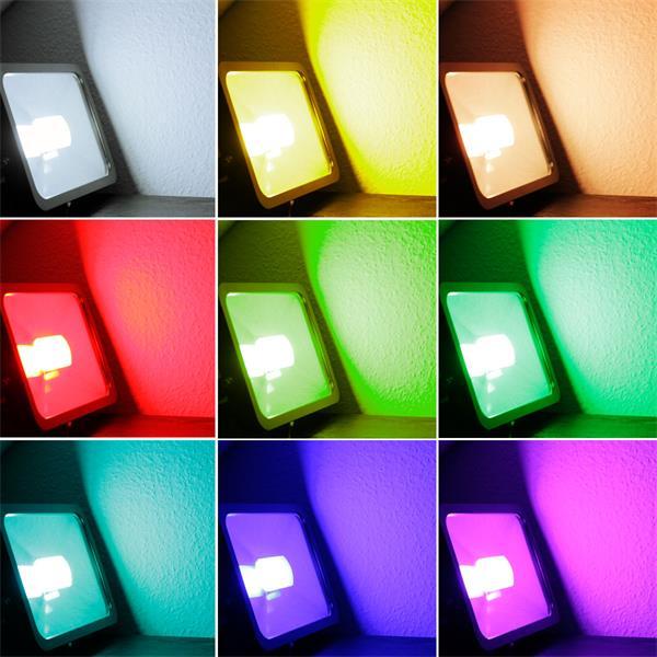 LED Strahler RGB-Slim mit 96 RGB SMD LEDs mit 16 verschiedenen Farben